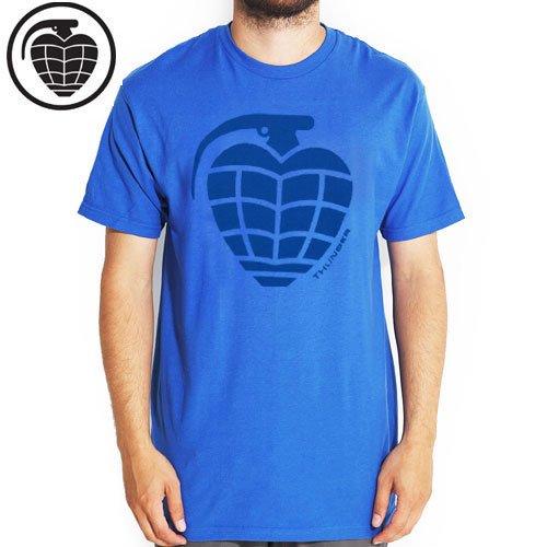 【サンダー THUNDER TRUCKS スケボー Tシャツ】BASIC GRNADE TEE【ブルー】NO56