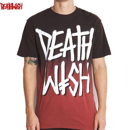 【デスウィッシュ DEATHWISH スケボーTシャツ】DEATHSTACK FADED【ブラウン x バーガンディ】NO20