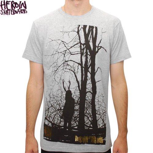 SALE! 【HEROIN ヘロイン スケートボード Tシャツ】FOREST TEE【グレー ヘザー】NO12