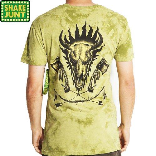 【シェイクジャント SHAKE JUNT スケボー Tシャツ】DICKSON TIE-DYE TEE【グリーン タイダイ】NO14