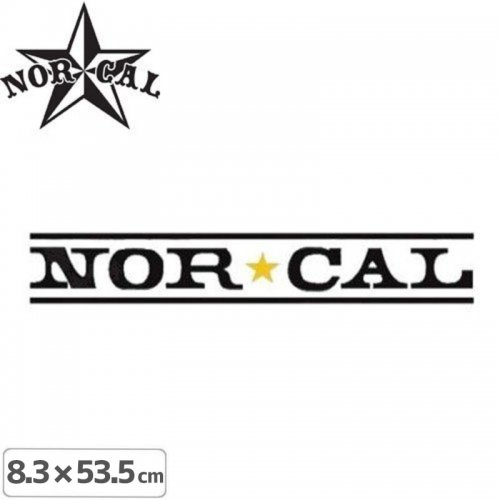 【ノーカル NOR CAL ステッカー】LOGO STICKER【8.3cm x 53.5cm】NO23