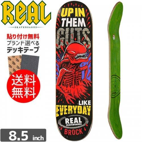 【リアル REAL スケボーデッキ】BROCK CRYPTO MASHUP DECK[8.5インチ]NO100