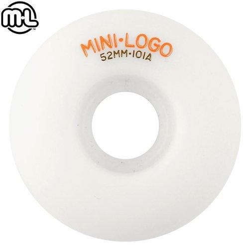 【MINI LOGO スケボー ウィール】C-CUT 101A【ホワイト】【52mm】【54mm】NO68