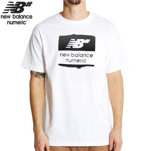 【NEW BALANCE NUMERIC ニューバランス ナメリック Tシャツ】OVERSPRAY TEE【ホワイト】NO4