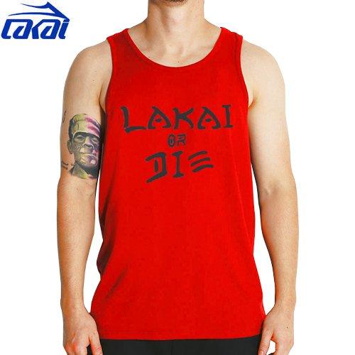 【LAKAI ラカイ スケボー Tシャツ】LAKAI TRIBUTE TANK【レッド】NO13