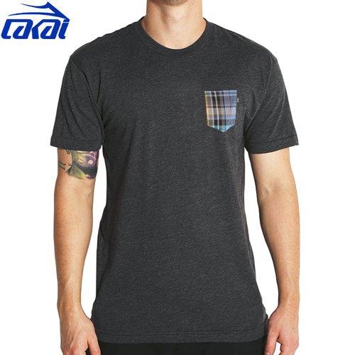【LAKAI ラカイ スケボー Tシャツ】FIELD POCKET TEE【ヘザーブラック】NO15