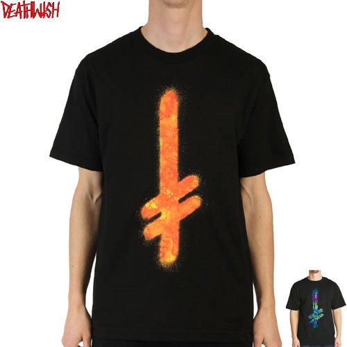 【デスウィッシュ DEATHWISH スケボー Tシャツ】GANG LOGO FIRE TEE【2カラー】NO23