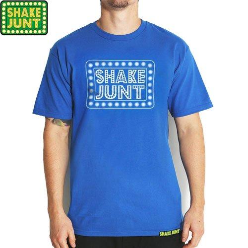 【シェイクジャント SHAKE JUNT スケボー Tシャツ】BOX LOGO TEE【ロイヤル ブルー】NO17