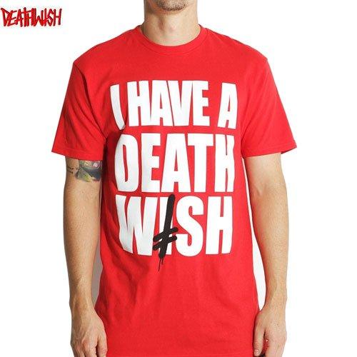 【デスウィッシュ DEATHWISH スケボー Tシャツ】I HAVE A DW TEE【レッド】NO30