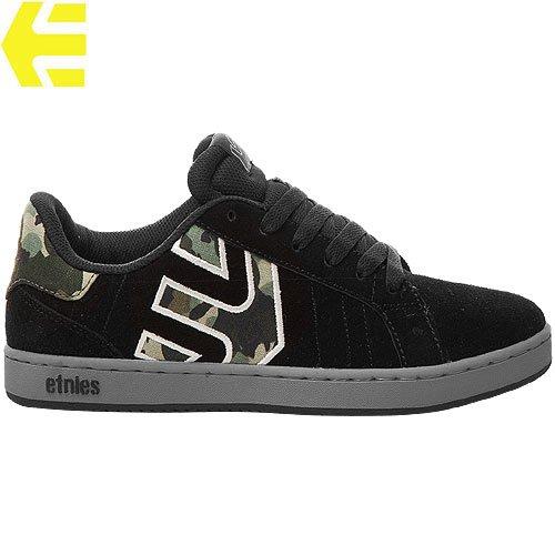 【エトニーズ ETNIES スケート シューズ】FADER LS スウェード【ブラック x カモ】NO91
