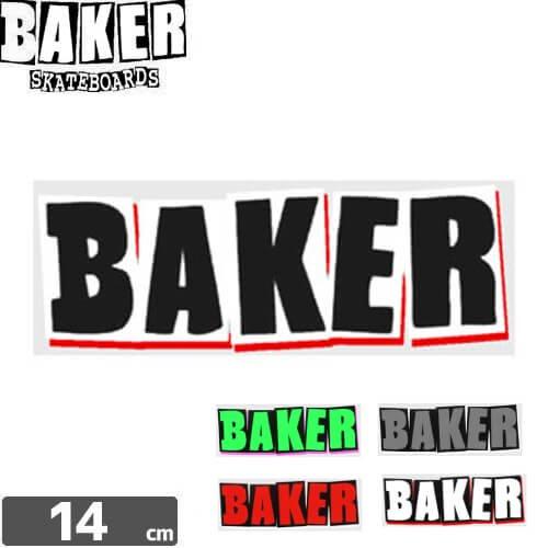 【ベーカー BAKER SKATEBOARD ステッカー】LOGO【5色】【5.2cm x 14cm】NO57