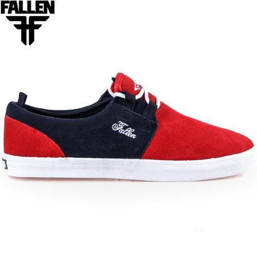 【FALLEN フォールン スケートボードシューズ】CAPITOL【スウェード】【BLOOD RED/MIDNIGHT BLUE】NO65