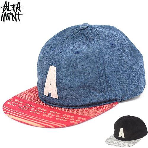 【オルタモント ALTAMONT スケボー キャップ】FIELDER CAP【デニム】【ブラック】NO11
