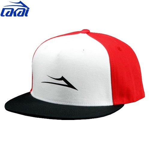 【ラカイ LAKAI スケート キャップ】SOURCE CAP【レッド x ホワイト x ブラック】NO4