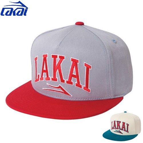 【ラカイ LAKAI スケート キャップ】ARCH SNAPBACK CAP【グレー】【クリーム】NO6