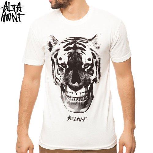 【オルタモント ALTAMONT スケボー Tシャツ】TIGER FACE TEE【クリーム】NO26