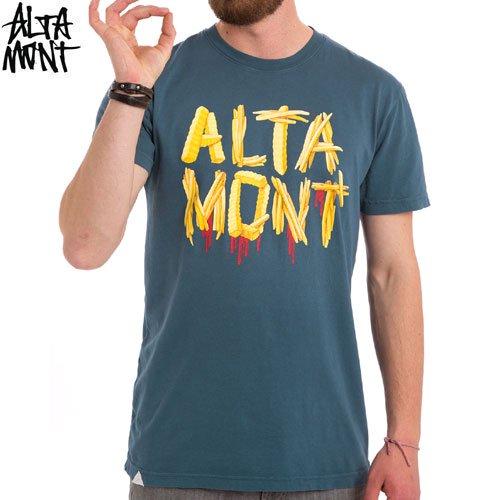 【オルタモント ALTAMONT スケボー Tシャツ】FRENCH FRIED TEE【ブルー】NO27