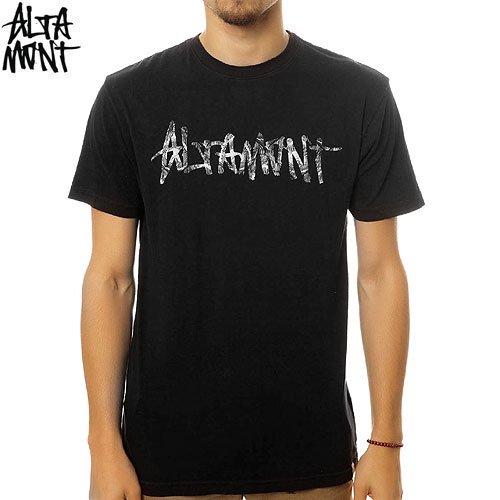 【オルタモント ALTAMONT スケボー Tシャツ】PEACOCK LOGO TEE【ブラック】NO34
