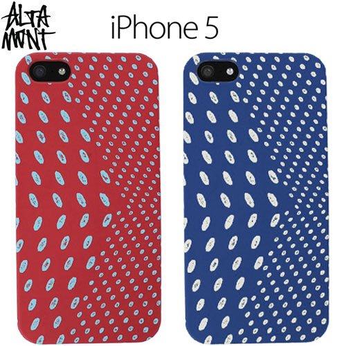 【オルタモント ALTAMONT スマホケース】POLKA DOT APPLE IPHONE 5(5S) CASE【ネイビー】【レッド】NO3