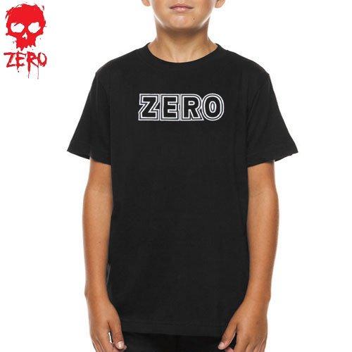 【ZERO ゼロ キッズ Tシャツ】LOGO YOUTH TEE【ユースサイズ】【ブラック】NO10