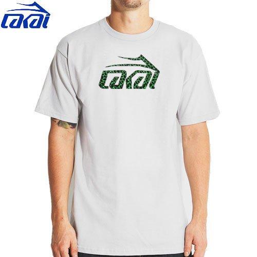 【LAKAI ラカイ スケボー Tシャツ】LAKAI CRACKLE TEE【シルバー グレー】NO24