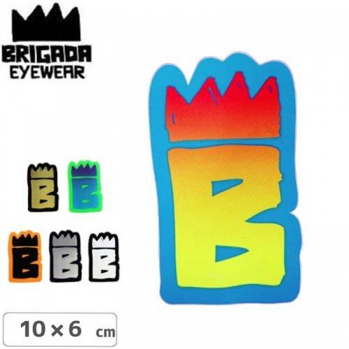 【ブリガーダ BRIGADA ステッカー】LOGO STICKER【10cm x 6cm】【6カラー】NO1