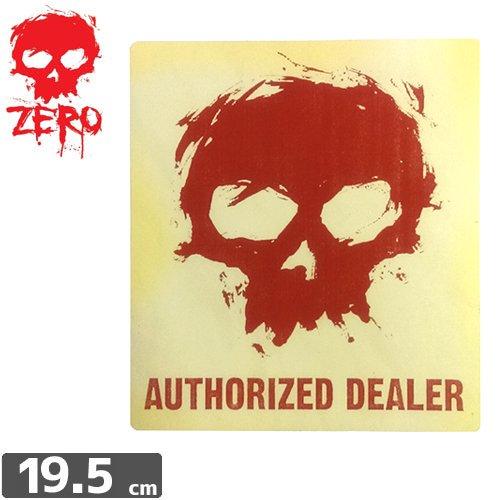 【ゼロ ZERO スケボー ステッカー】ZERO AUTHORIZED STICKER【19.5cm x 17.5cm】NO72