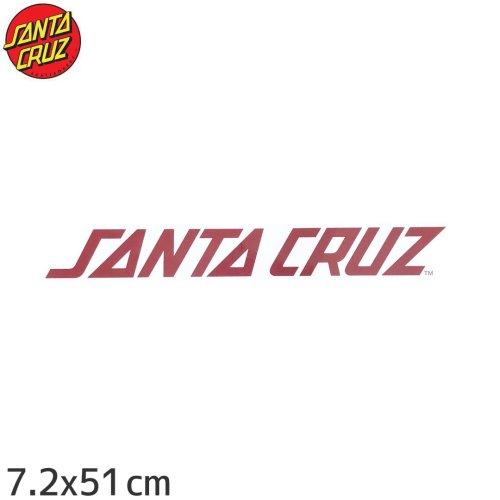 【サンタクルーズ SANTACRUZ スケボー ステッカー】RED STRIP【7.2cm x 51cm】NO69