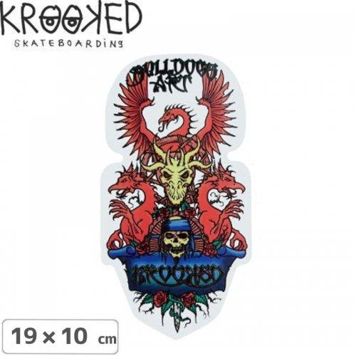 【クルックド KROOKED スケボー ステッカー】BULLDOG ART【19cm x 10cm】NO03