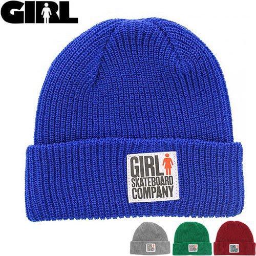 【GIRL SKATEBOARD ガール ニットキャップ】BIG GIRL FOLDED BEANIE【ブルー】【ブラック】【グレー】【グリーン】【レッド】NO26