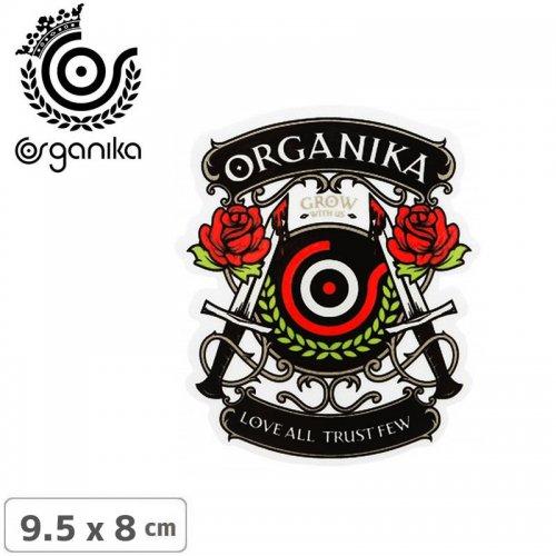 【オーガニカ ORGANIKA スケボー ステッカー】LOVE ALL【9.5cm x 8cm】 NO32