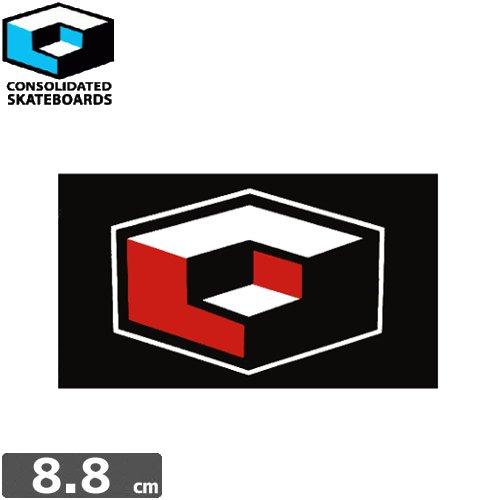 【CONSOLIDATED コンソリデーテッド スケボー ステッカー】LOGO【5.1cm x 8.8cm】NO03