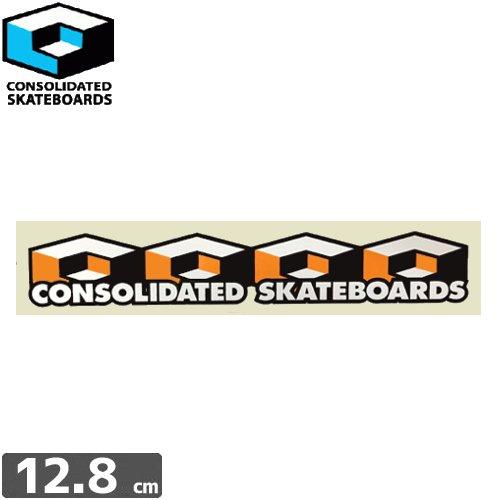 【CONSOLIDATED コンソリデーテッド スケボー ステッカー】CUBES【2.5cm x 12.8cm】NO22
