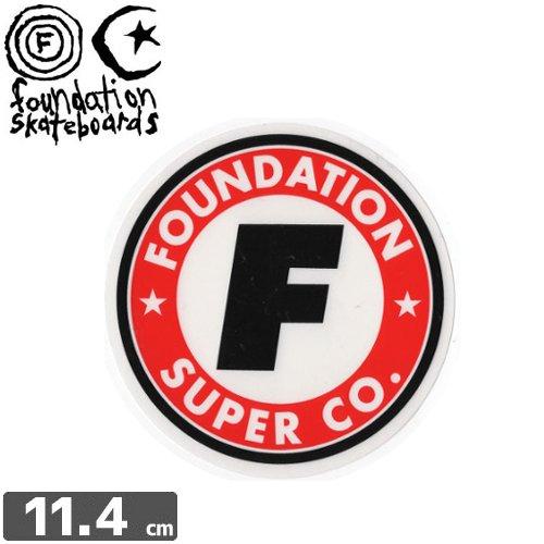 【ファンデーション FOUNDATION スケボー ステッカー】SUPER CO【11.4cm】NO2