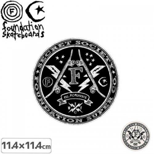 【ファンデーション FOUNDATION スケボー ステッカー】SECRET SOCIETY【2色】【11.4cm】NO4