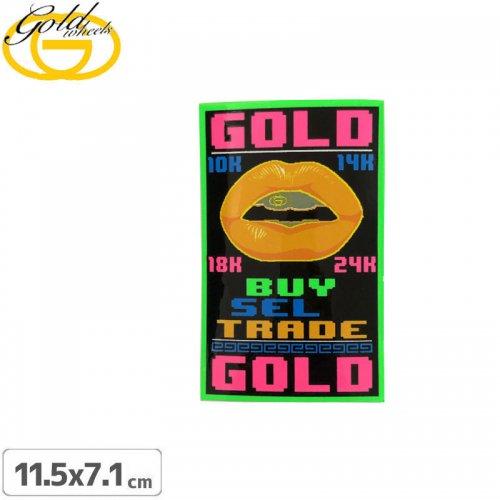 【ゴールド GOLD STICKER スケートボード ステッカー】PAWN SHOP【11.5cm x 7.1cm】 NO34