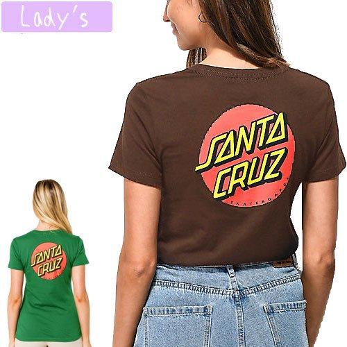 【サンタクルーズ SANTA CRUZ レディース】CLASSIC DOT JONIORS TEE【グリーン】【ブラウン】N11