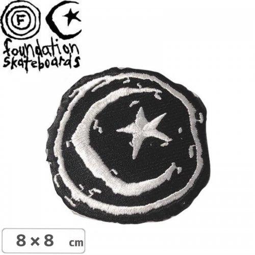 【FOUNDATION ファンデーション スケボー ワッペン 】Star and Moon【8cm】NO1