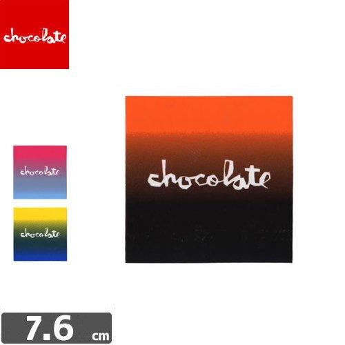 【CHOCOLATE チョコレートステッカー スケボー 】SQUARE FADE【3色】【7.6cm×7.6cm】NO02
