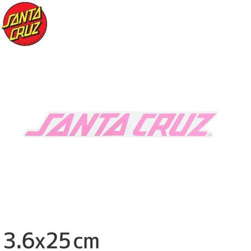 【サンタクルーズ SANTACRUZ スケボー ステッカー】STRIP【3.5cm x 25cm】NO57