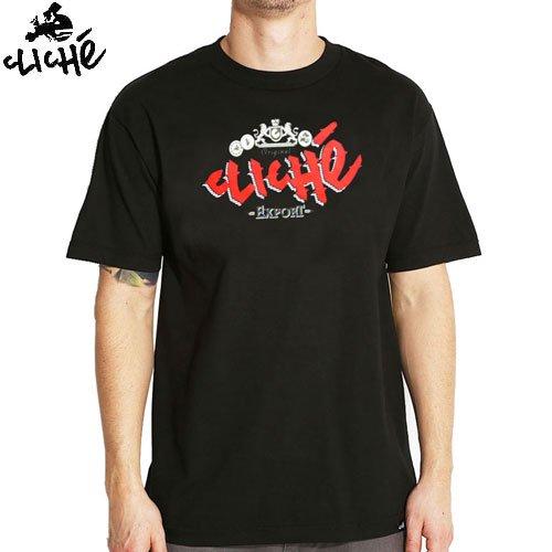【クリシェ CLICHE スケボー Tシャツ】CLICHE EXPORT TEE【ブラック】NO23
