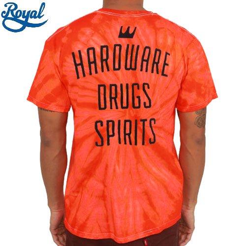 【ロイアル ROYAL TRUCKS Tシャツ】GENERAL STORE TIE DYE TEE【オレンジ x タイダイ】NO58