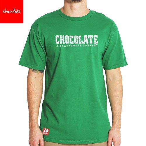 SALE! 【チョコレート CHOCOLATE スケートボード Tシャツ】HERITAGE KELLY【グリーン】NO135