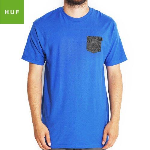 【HUF ハフ スケボー Tシャツ】HUF QUAKE POCKET TEE【ブルー】NO21