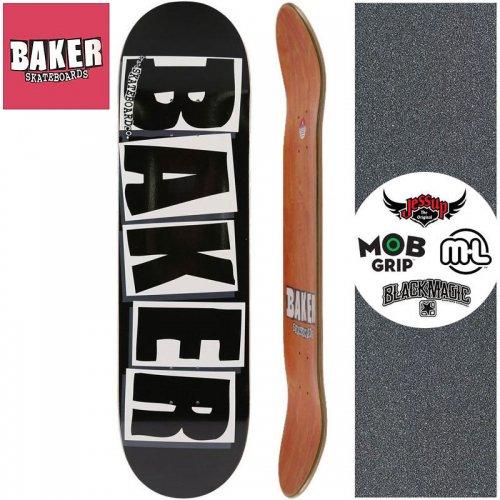 【ベーカー BAKER スケボーデッキ 】BRAND LOGO BLACK/WHITE DECK[8.25インチ]NO128
