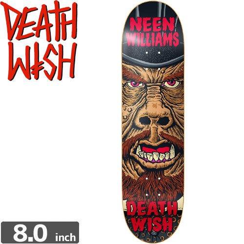 【デスウィッシュ DEATH WISH スケボー デッキ】NEEN WILLIAMS NIGHTMARE DECK[8.0インチ]NO34