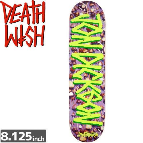 【デスウィッシュ DEATH WISH スケボー デッキ】JOHN DICKSON GANG NAME SHROOMS[8.125インチ]NO37