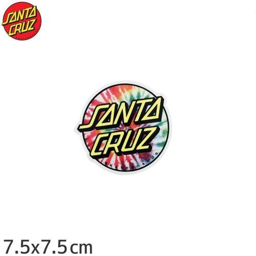【サンタクルーズ SANTACRUZ スケボー ステッカー】TIE DYE DOT【7.5cm×7.5cm】NO41