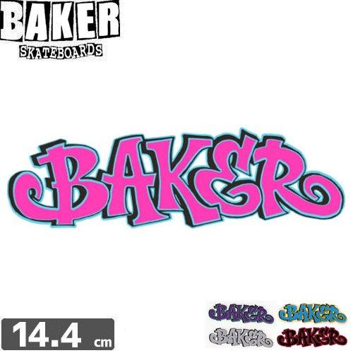 【ベーカー BAKER SKATEBOARD スケボー ステッカー】FAT CAP【5色】【14.4cm×4.2cm】No23