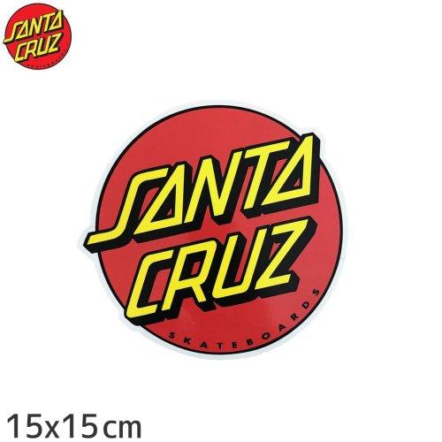 【サンタクルーズ SANTACRUZ スケボー ステッカー】CLASSIC DOT【15cm x 15cm】NO11